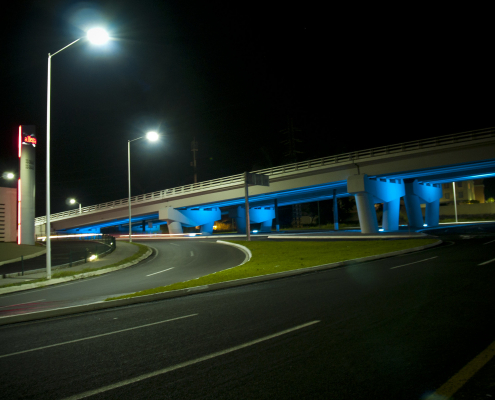 Puente desnivel Iluminacion LED